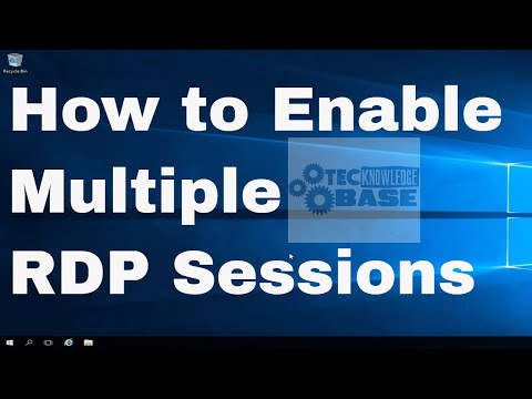 How To Enable Multiple RDP Sessions In Microsoft Windows Server