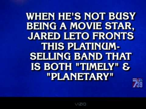 30 Seconds to Mars on Jeopardy