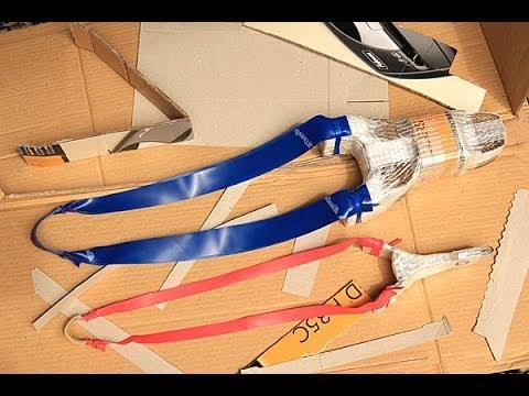 How to make a powerful flat band cardboard slingshot - a tutorial