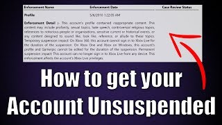 How to get your Account Unsuspended Xbox Tutorial