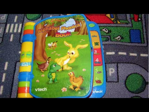 vtech alphabet phonics book youtube