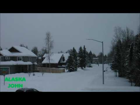ALASKA STREET VIEW - Snowing Again In Anchorage - February 19th 2017