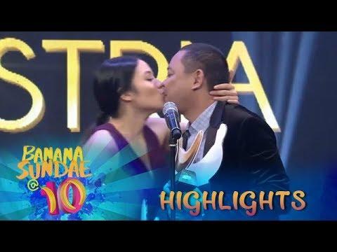 Banana Sundae: Ritz Kisses Jobert As They Receive The 'Best Kiss' Award