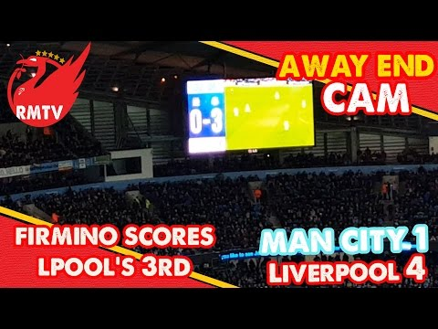 And Liverpool go 3 nil up!!! Firmino's Goal Reaction | Man City 1 - 4 Liverpool| Away End Cam