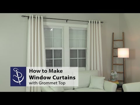How to Make a Window Curtain with Grommet Top