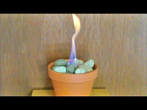 DIY Blumentopf Kamin Blumentopf Feuer Tischkamin