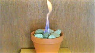 [DIY] Blumentopf Kamin - Blumentopf Feuer - Tischkamin - Tischfeuer
