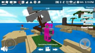 Playing Roblox w/ PinkLhaney15!!!