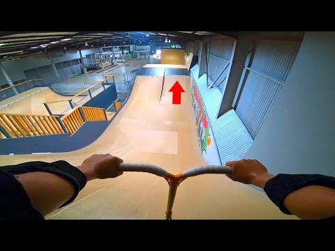 MINI MEGA RAMP Vs PRO SCOOTER TRICKS! *NEW TRICK*