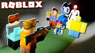 Roblox Adventures - SURVIVE THE NEW KILLERS OF AREA 51! (Bendy, John Doe, Hello Neighbor, SCP)