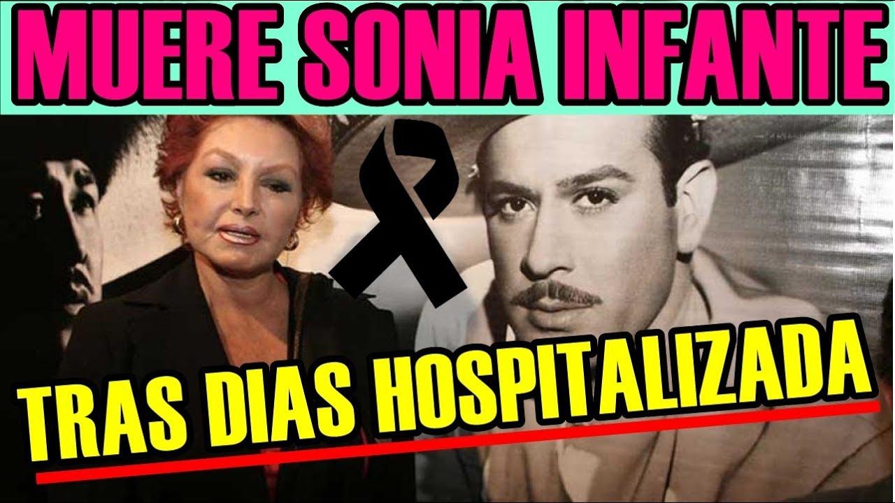 MUERE la actriz SONIA INFANTE a los 75 AÑOS tras DÍAS HOSPITALIZADA