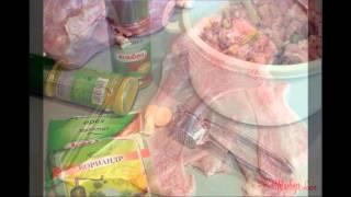 Холодные закуски мясные:Галантин птичье сердце