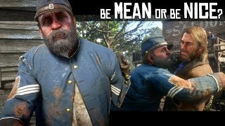 Be Mean Or Be Kind To The Homeless Vet In Valentine (He Has A Secret) RDR2