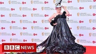 Star wears bin bags to the Baftas - BBC News