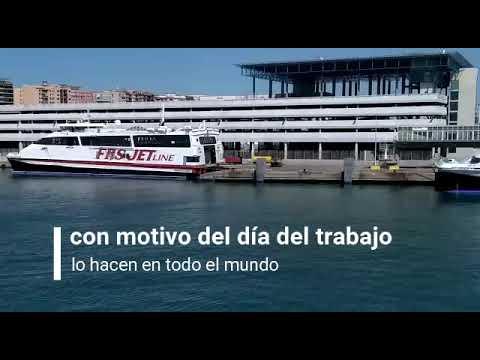 Sirenas en el puerto de Algeciras con motivo del 1 de mayo