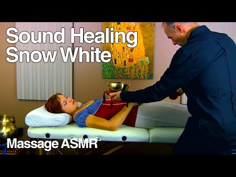 ASMR Sound Healing Snow White with Tibetan Singing Bowls