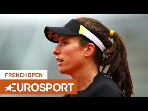 Johanna Konta vs Markéta Vondroušová Highlights   Roland Garros 2019 Semi-Final   Eurosport