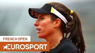 Johanna Konta vs Markéta Vondroušová Highlights | Roland Garros 2019 Semi-Final | Eurosport