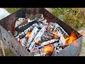 Spring picnic  How to prepare a charcoal grill