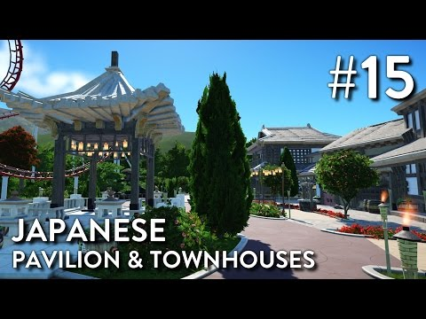 Planet Coaster: Grizzly Valley (Part 15) - Japanese Pavilion & Townhouses