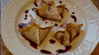 Cherry Cheesecake Wonton Bites - Deep Fried Cream Cheese Filled Wontons With Cherry Sauce