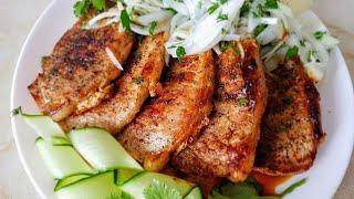Новогодний стейк по - цыгански. Мясо стейк на сковороде. Gipsy kitchen.