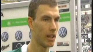 Dzeko scores two goals against Bayern Munchen 4/4/09
