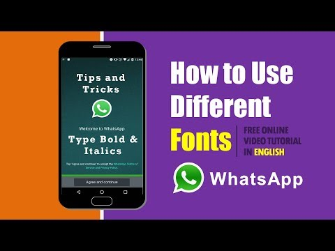 How to Send Whatsapp Messages in Different Fancy Font Styles | English  Tutorial