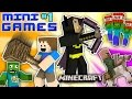 MINECRAFT BATMAN vs. FGTEEV CHASE MINI-GAMES #1 (Duddy's Fun Challenge Map / World Gameplay)