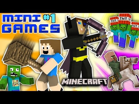MINECRAFT BATMAN vs FGTEEV CHASE MINI-GAMES 1 Duddy&39;s Fun Challenge Map  World Gameplay