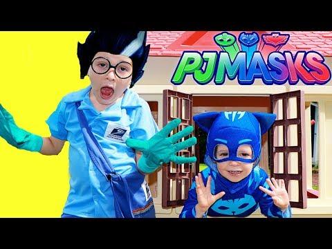 PJ Masks Disney Episodes Catboy VS Romeo Dress Up USPS Mailman Giant Little Tikes