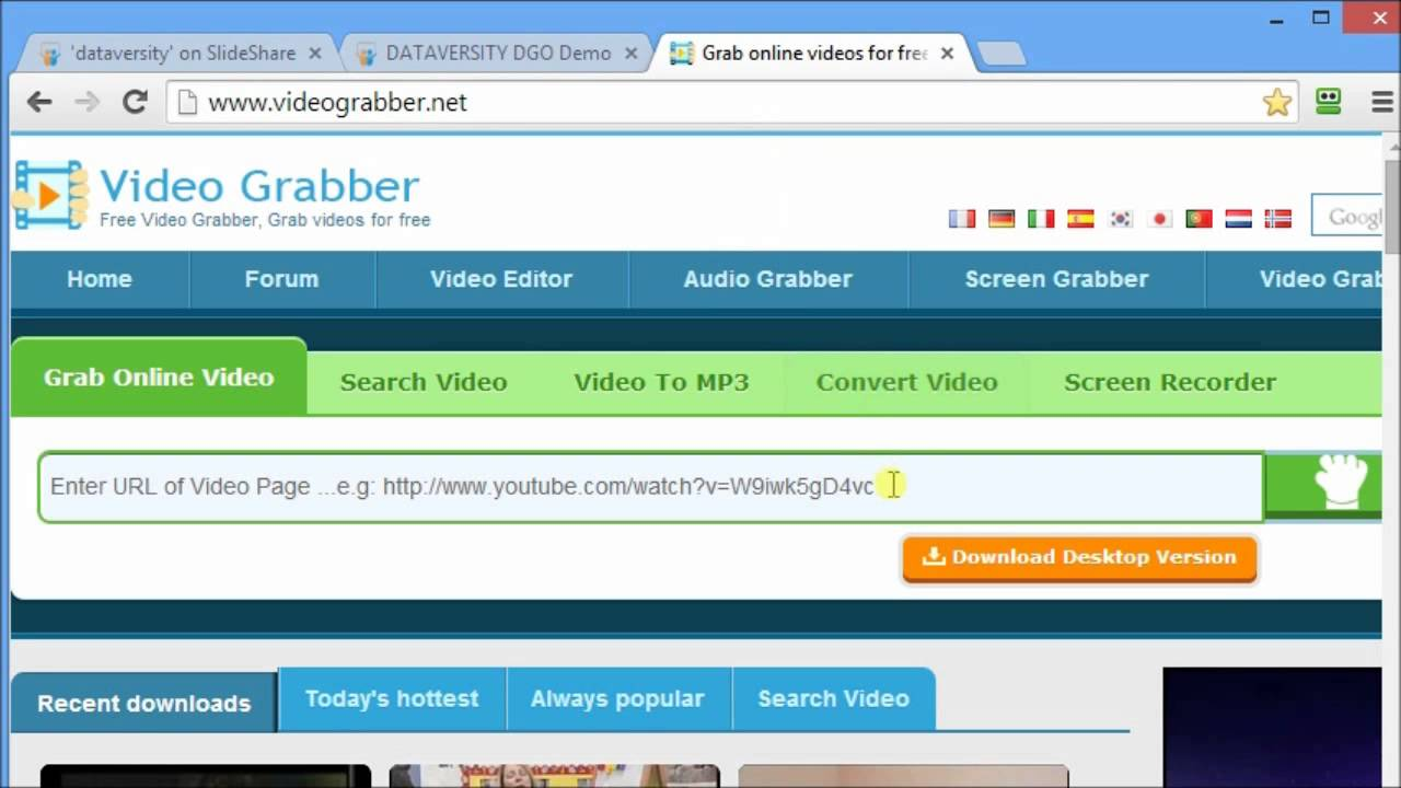 how to download from slideshare
