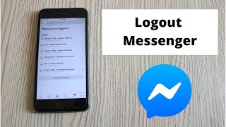 How to Logout Męssenger in iPhone (2021)