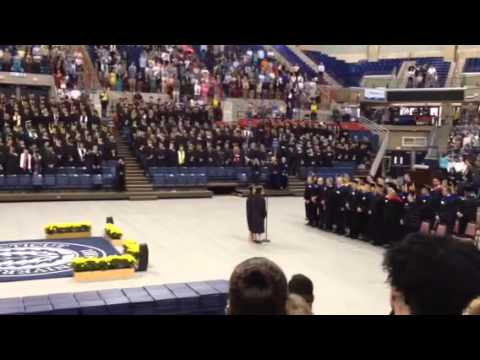 UConn Commencement National Anthem 2014