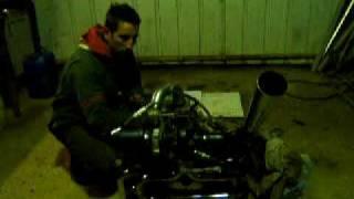 moteur cox 1600 prépa TURBO, 1er essai