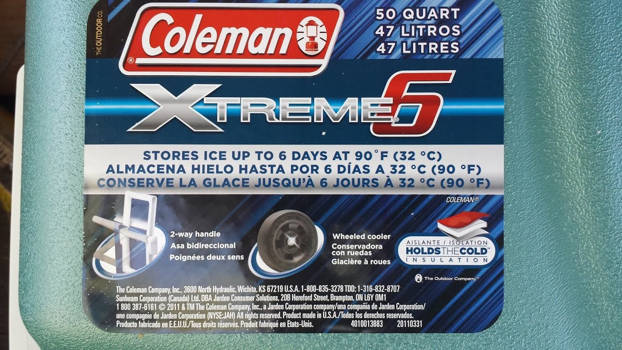 Coleman Ultimate Extreme 6 Day 50 Quart Cooler