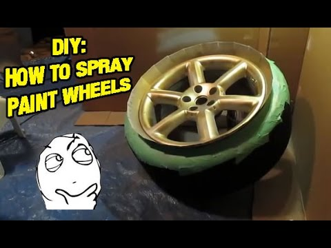 how to paint rims using spray paint rattle can youtube. Black Bedroom Furniture Sets. Home Design Ideas