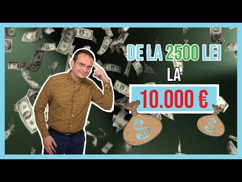 De la 2500 lei la 10,000 de euro prin investitii la bursa
