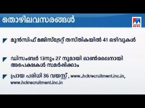 Job vacancy at Kerala Judicial Service