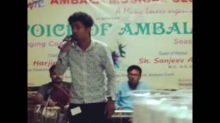 Voice off Ambala sing Sagar Sahota song khamoshiya
