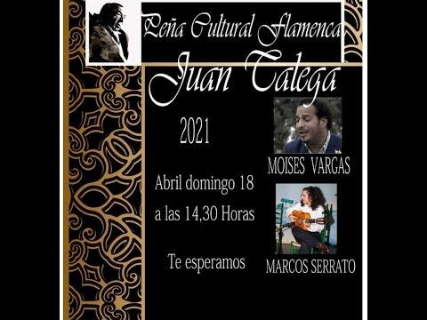 Moises Vargas con la guitarra de Marcos Serrato