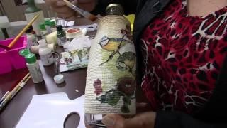 Decoração em Garrafa por Celia Bonomi
