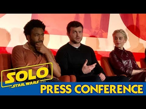Solo: A Star Wars Story Press Conference (Ron Howard, Alden Ehrenreich, Donald Glover)