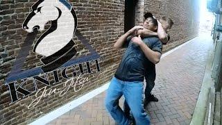 Jiu-Jitsu Street Self-Defense Technique - Chest Push Defense