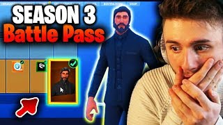 I SHOW INGAME ALL SEASON 3 BATTLE PASS SKINS + ITEMS 🔴 Fortnite Battle Royale (English)
