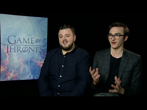 """Game of Thrones"" Season 7 interview with John Bradley & Isaac Hempstead Wright"