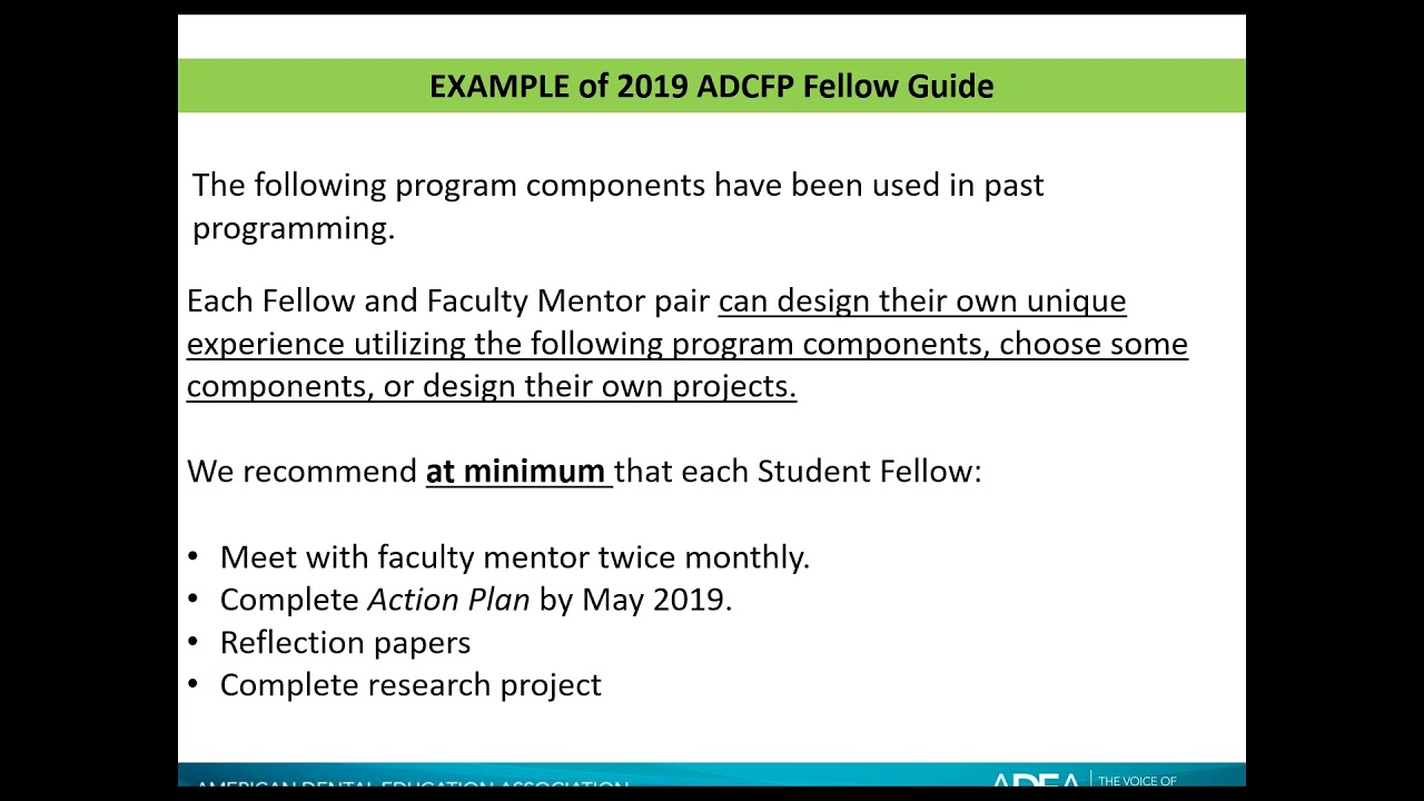 ADEA Academic Dental Careers Fellowship Program (ADEA ADCFP)