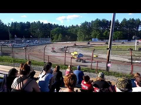 Bear Ridge Speedway 7/7/18. 500cc Granite State Mini Sprint frist heat.