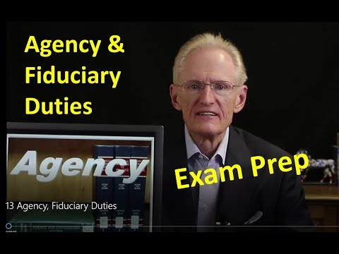 13 Agency, Fiduciary Duties: Arizona Real Estate License Exam Prep