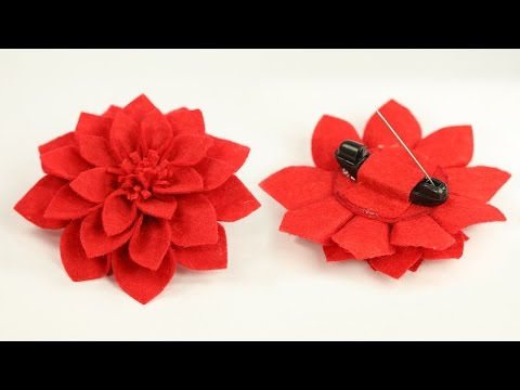 Diy Crafts Easy Fabric Floral Brooch